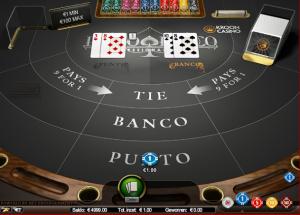 Live Punto Banco strategie