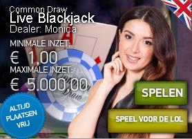 Vier redenen om Common Draw Blackjack te spelen in een live casino